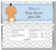 It's A Boy Chevron Hispanic - Personalized Baby Shower Candy Bar Wrappers thumbnail