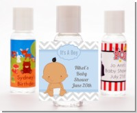 It's A Boy Chevron Hispanic - Personalized Baby Shower Hand Sanitizers Favors
