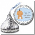 It's A Boy Chevron Hispanic - Hershey Kiss Baby Shower Sticker Labels thumbnail