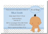 It's A Boy Chevron Hispanic - Baby Shower Petite Invitations