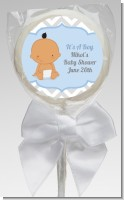 It's A Boy Chevron Hispanic - Personalized Baby Shower Lollipop Favors