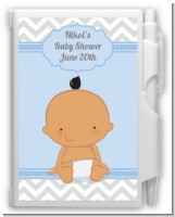 It's A Boy Chevron Hispanic - Baby Shower Personalized Notebook Favor