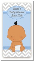 It's A Boy Chevron Hispanic - Custom Rectangle Baby Shower Sticker/Labels