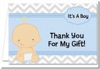 It's A Boy Chevron Hispanic - Baby Shower Thank You Cards