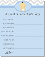 It's A Boy Chevron Hispanic - Baby Shower Wishes For Baby Card