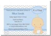 It's A Boy Chevron - Baby Shower Petite Invitations