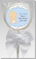It's A Boy Chevron - Personalized Baby Shower Lollipop Favors