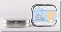 It's A Boy Chevron - Personalized Baby Shower Mint Tins