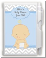 It's A Boy Chevron - Baby Shower Personalized Notebook Favor