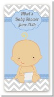 It's A Boy Chevron - Custom Rectangle Baby Shower Sticker/Labels