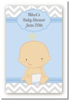 It's A Boy Chevron - Custom Large Rectangle Baby Shower Sticker/Labels