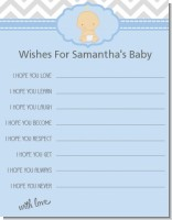 It's A Boy Chevron - Baby Shower Wishes For Baby Card