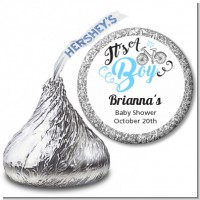 It's A Boy - Hershey Kiss Baby Shower Sticker Labels