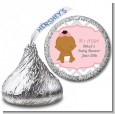 It's A Girl Chevron African American - Hershey Kiss Baby Shower Sticker Labels thumbnail