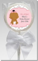 It's A Girl Chevron African American - Personalized Baby Shower Lollipop Favors