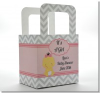 It's A Girl Chevron Asian - Personalized Baby Shower Favor Boxes