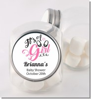 It's A Girl - Personalized Baby Shower Candy Jar