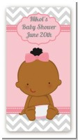 It's A Girl Chevron African American - Custom Rectangle Baby Shower Sticker/Labels