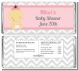 It's A Girl Chevron Asian - Personalized Baby Shower Candy Bar Wrappers thumbnail