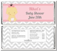 It's A Girl Chevron Asian - Personalized Baby Shower Candy Bar Wrappers