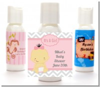 It's A Girl Chevron Asian - Personalized Baby Shower Lotion Favors