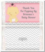 It's A Girl Chevron Asian - Personalized Popcorn Wrapper Baby Shower Favors