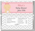 It's A Girl Chevron - Personalized Baby Shower Candy Bar Wrappers thumbnail