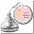 It's A Girl Chevron - Hershey Kiss Baby Shower Sticker Labels thumbnail