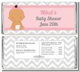 It's A Girl Chevron Hispanic - Personalized Baby Shower Candy Bar Wrappers thumbnail