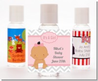 It's A Girl Chevron Hispanic - Personalized Baby Shower Hand Sanitizers Favors