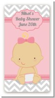 It's A Girl Chevron - Custom Rectangle Baby Shower Sticker/Labels