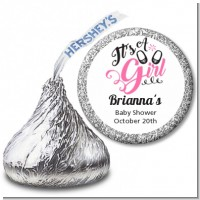It's A Girl - Hershey Kiss Baby Shower Sticker Labels