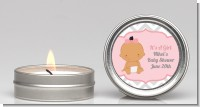 It's A Girl Chevron Hispanic - Baby Shower Candle Favors