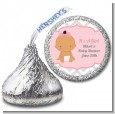 It's A Girl Chevron Hispanic - Hershey Kiss Baby Shower Sticker Labels thumbnail