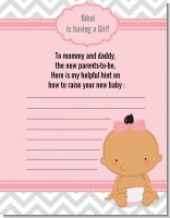 It's A Girl Chevron Hispanic - Baby Shower Notes of Advice