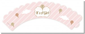 Hot Air Balloon Gold Glitter - Baby Shower Cupcake Wrappers