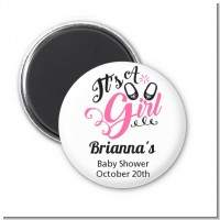 It's A Girl - Personalized Baby Shower Magnet Favors