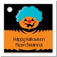 Jack O Lantern Clown - Personalized Halloween Card Stock Favor Tags