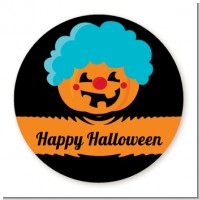 Jack O Lantern Clown - Round Personalized Halloween Sticker Labels