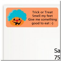 Jack O Lantern Clown - Halloween Return Address Labels
