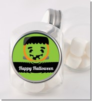 Jack O Lantern Frankenstein - Personalized Halloween Candy Jar