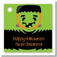 Jack O Lantern Frankenstein - Personalized Halloween Card Stock Favor Tags thumbnail