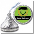 Jack O Lantern Frankenstein - Hershey Kiss Halloween Sticker Labels thumbnail
