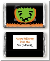 Jack O Lantern Frankenstein - Personalized Halloween Mini Candy Bar Wrappers