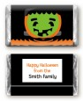 Jack O Lantern Frankenstein - Personalized Halloween Mini Candy Bar Wrappers thumbnail