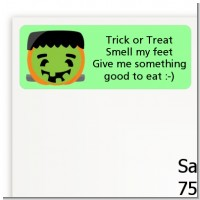 Jack O Lantern Frankenstein - Halloween Return Address Labels
