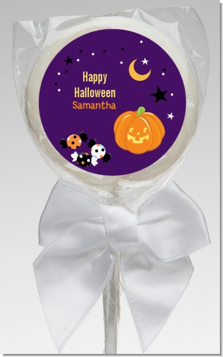Jack O Lantern - Personalized Halloween Lollipop Favors
