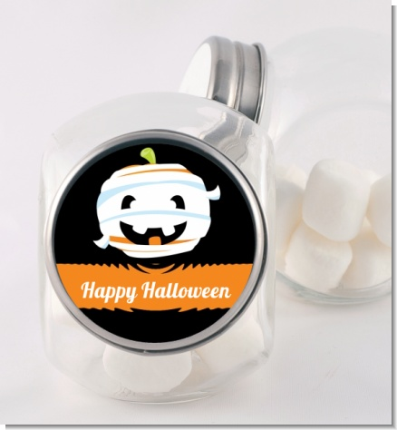 Jack O Lantern Mummy - Personalized Halloween Candy Jar