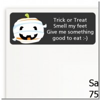 Jack O Lantern Mummy - Halloween Return Address Labels