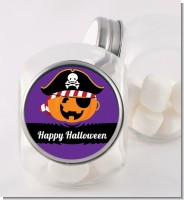 Jack O Lantern Pirate - Personalized Halloween Candy Jar